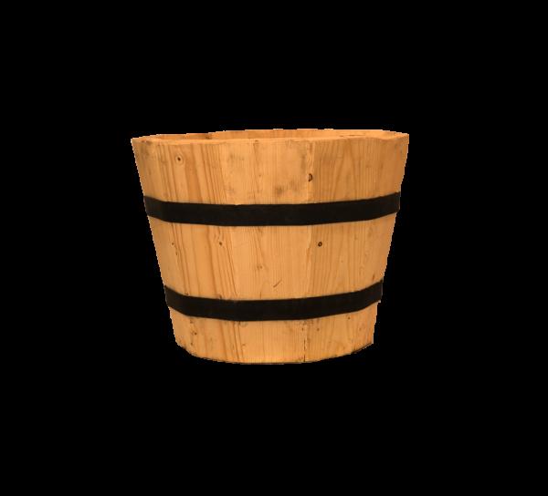 vaalea puinen ruukku